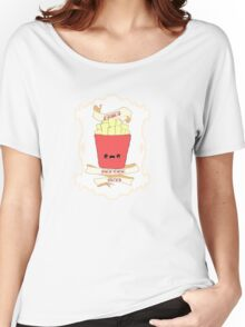 Fries Before Guys. Women's Relaxed Fit T-Shirt