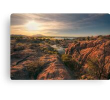 Willow Cliffs Wide Canvas Print