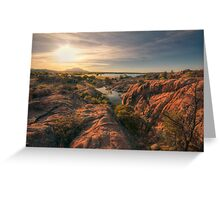 Willow Cliffs Wide Greeting Card