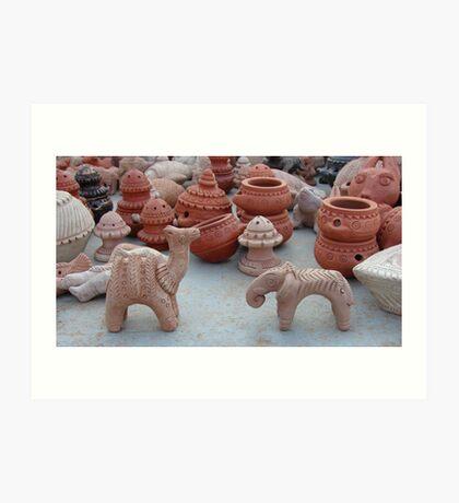 Terracotta Animals Art Print