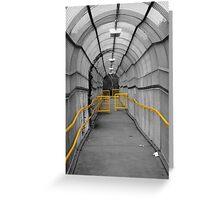 Follow The Yellow Hand Rail Greeting Card