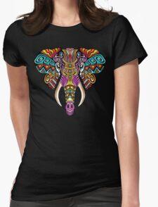 Mosaic Elephant: Rainbow Beast Womens Fitted T-Shirt