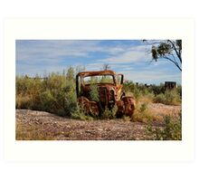 Rusted History - Lightning Ridge NSW Australia Art Print