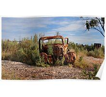 Rusted History - Lightning Ridge NSW Australia Poster