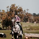 Rider jumping with horse by Ajmdc