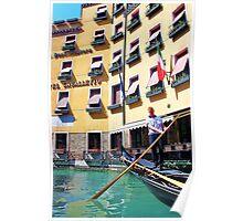 man driving the gondola Poster