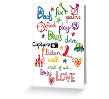 Dads LOVE illustration Greeting Card