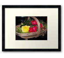 Roses and Vegetables Framed Print