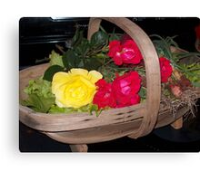 Roses and Vegetables Canvas Print