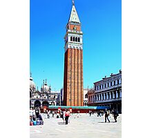 clock tower in venice Photographic Print
