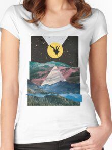 Man on the Moon Women's Fitted Scoop T-Shirt