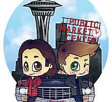 Winchesters in Seattle by bonejangless