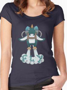 Jetpack Penguin Women's Fitted Scoop T-Shirt