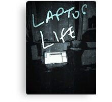Laptop Life Canvas Print