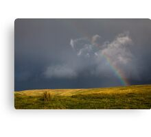 Rainbow and Dark Sky Canvas Print