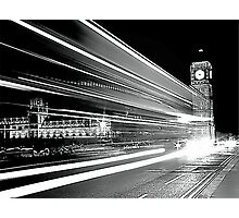 BIG BEN IN BLACK AND WHITE  Photographic Print