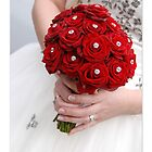 Bridal Bouquet ~ Red Roses  by The Creative Minds