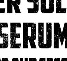Super Soldier Serum Sticker