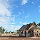 Corrugated Iron Church - Lightning Ridge NSW Australia by Bev Woodman