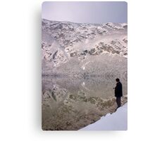 Wintery reflections of Bohinj Canvas Print