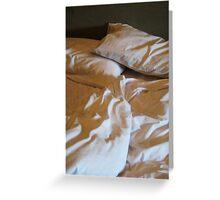 bedhead morning Greeting Card