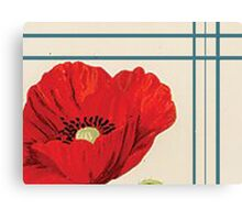 Antique Poppy Sci-Fi Canvas Print