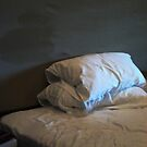 Stacked pillows by Jodi Fleming
