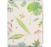 Leaf study watercolor iPad Case/Skin