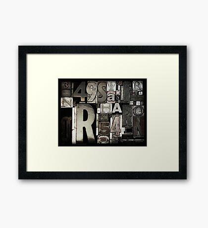 Custom Letterpress Framed Print