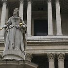 detail monument of Queen Anne, St Paul's II by BronReid