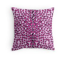 Cats Head Leopard Print in Pink Throw Pillow