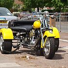 Yellow Harley Davidson Trike by Terry Senior