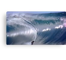Surfing With Giants Canvas Print