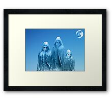 ICE BLUE SKY Framed Print