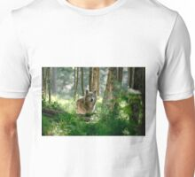 Timberwolf in Forest Unisex T-Shirt