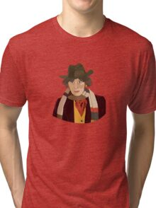 The 4th Doctor Tri-blend T-Shirt