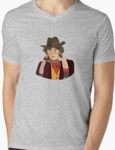 The 4th Doctor Mens V-Neck T-Shirt