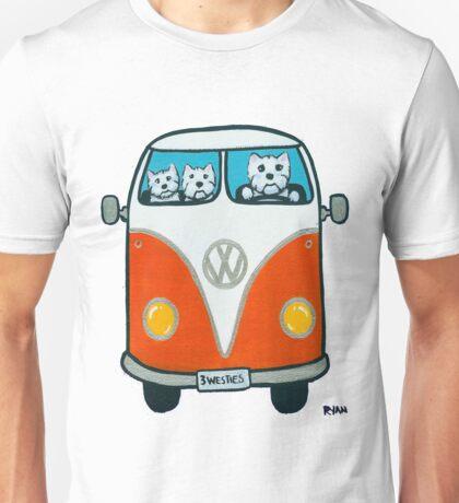 Westies in a VW T-Shirt