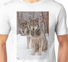 Timber Wolf Pair Unisex T-Shirt