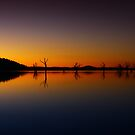 Lake Hume at dusk 2 by John Vandeven