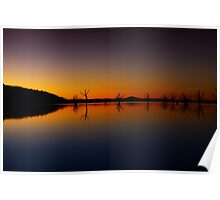 Lake Hume at dusk 2 Poster