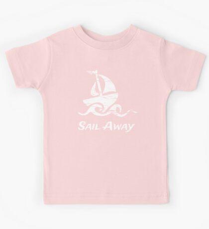 Sail Away: White Sailboat Kids Tee
