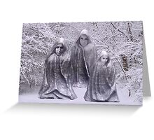 Statues in Winter Greeting Card