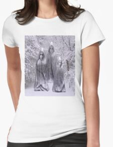 Statues in Winter Womens Fitted T-Shirt