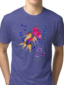 Flowers Coral Tri-blend T-Shirt