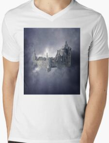 Castle in the Sky Mens V-Neck T-Shirt