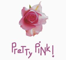 Pretty Pink ROSE T Shirt by Shoshonan