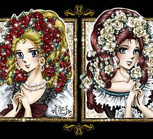 SnowWhite and RoseRed // Marie-Antoinette et Emily by Clarice82