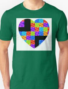 Love Colors The Heart by Sharon Cummings T-Shirt