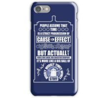 Doctor Who - Blink - People assume that time is a strict progression of cause to effect iPhone Case/Skin